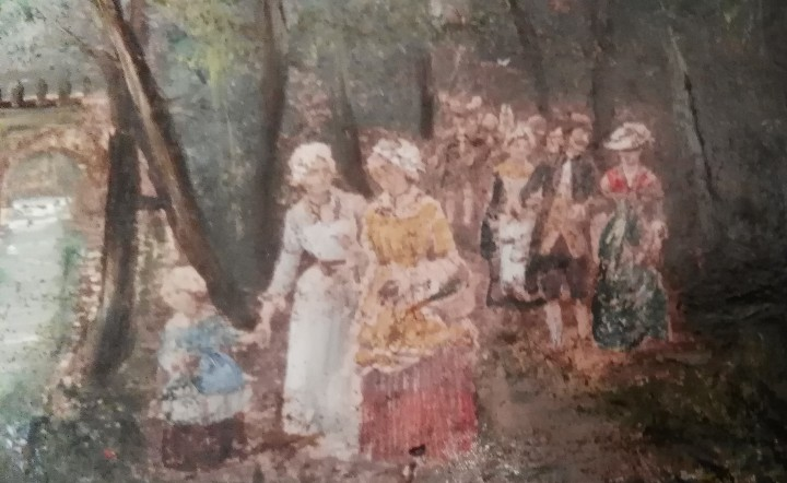 Arte: Pintura antigua. Siglo XIX. Óleo. Marco de época. Casacón - Foto 3 - 110674531
