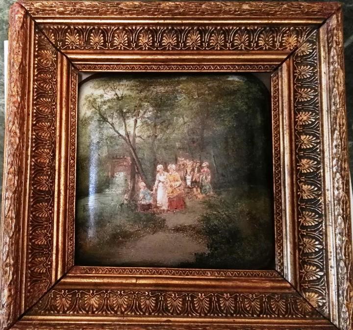 Arte: Pintura antigua. Siglo XIX. Óleo. Marco de época. Casacón - Foto 7 - 110674531