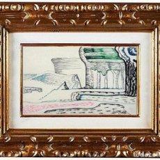 Arte: JOAN BROTAT VILANOVA - PAYSAGE FANTASTIQUE, TÉCNICA MIXTA SOBRE PAPEL. Lote 110678819
