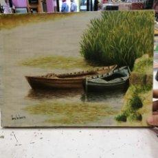 Arte: OLEO DE JOSE MIGUEL TOMAS SANTAMARÍA EL PERELLÓ LA ALBUFERA. Lote 110700999