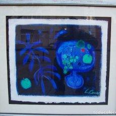 Arte: LUIS AMER NACE EN BARCELONA EN 1943 OBRA SOBRE CARTON FRANCES AÑO 75 MED 60X65 CN MARCO90X80CM. Lote 110713719