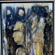 Arte: INTERESANTE PINTURA ORIGINAL FIGURAS FIRMADA (ILEGIBLE).. Lote 110809578
