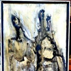 Arte: PRECIOSA PINTURA ORIGINAL FIGURAS, FIRMADA (ILEGIBLE).. Lote 110809728