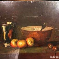 Arte: MAGNIFICO BODEGON ESPAÑOL, OLEO SOBRE TABLA. Lote 110826903