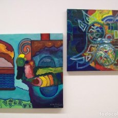Arte: CONJUNTO DE 2 CUADROS AL OLEO ORIGINALES. Lote 110924023