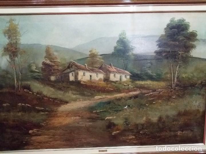Arte: Óleo sobre lienzo. Paisaje campestre - Foto 2 - 110949291