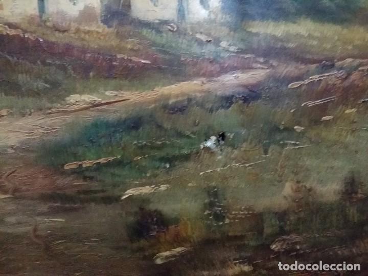 Arte: Óleo sobre lienzo. Paisaje campestre - Foto 3 - 110949291