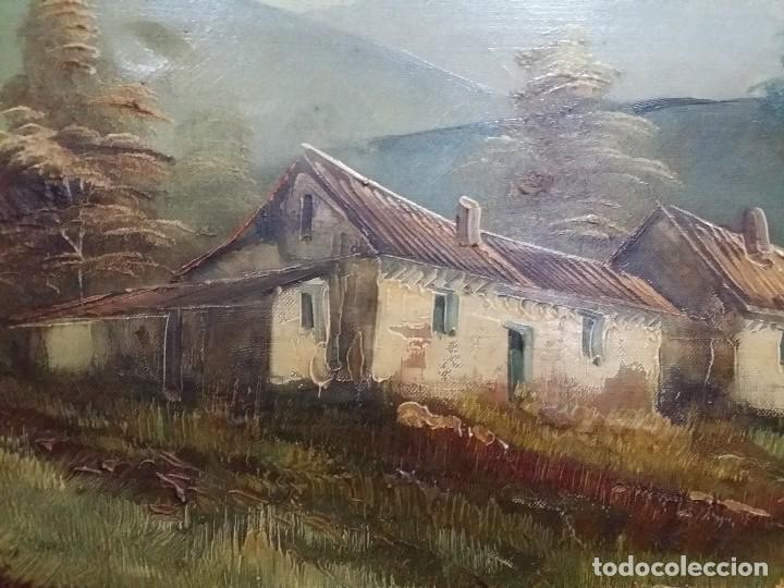 Arte: Óleo sobre lienzo. Paisaje campestre - Foto 4 - 110949291