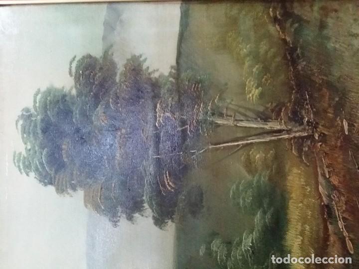 Arte: Óleo sobre lienzo. Paisaje campestre - Foto 5 - 110949291