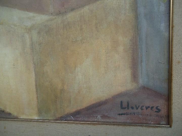 Arte: MAGNIFICO LIENZO BODEGON QUIMICO por Ángeles Lloveres Rúa-Figueroa -A Coruña 1944 - Foto 6 - 110898555