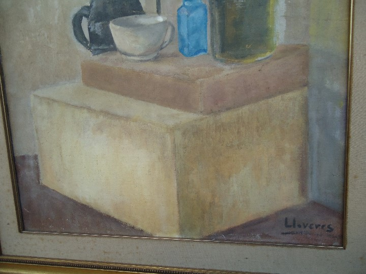 Arte: MAGNIFICO LIENZO BODEGON QUIMICO por Ángeles Lloveres Rúa-Figueroa -A Coruña 1944 - Foto 7 - 110898555