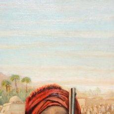 Arte: ESCUELA ESPAÑOLA (1ª MITAD SIGLO XX) OLEO SOBRE TABLA DE AUTOR ANONIMO. ESCENA ORIENTALISTA. Lote 110985503