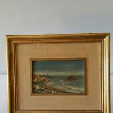 Arte: ANTIGUO OLEO SOBRE TABLA - FIRMADO R. CASILARI - MARINA - AÑOS 50/60. Lote 111030259