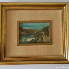 Arte: ANTIGUO OLEO SOBRE TABLA - FIRMADO R. CASILARI - PAISAJE CON TUNEL - AÑOS 50/60. Lote 111031075