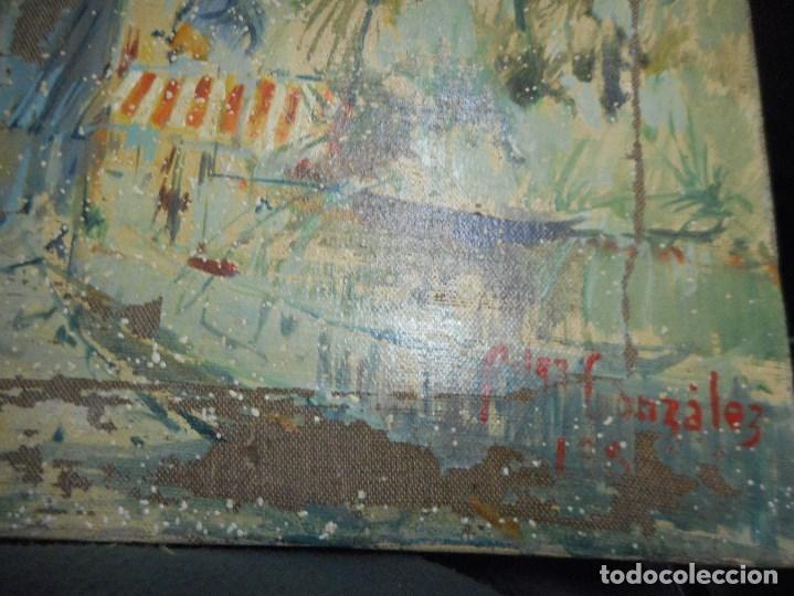 Arte: oleo posible pintor sevillano domingo fernandez gonzalez 1862 1918, firmado fdez gonzalez - Foto 8 - 111032163