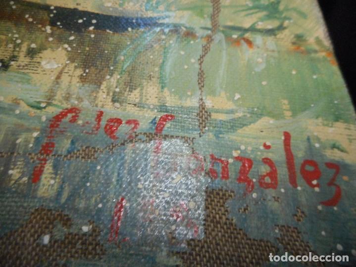 Arte: oleo posible pintor sevillano domingo fernandez gonzalez 1862 1918, firmado fdez gonzalez - Foto 9 - 111032163