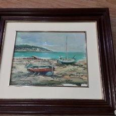 Arte: OLEO SOBRE TABLEX FIRMADO Y ENMARCADO.. Lote 111170582