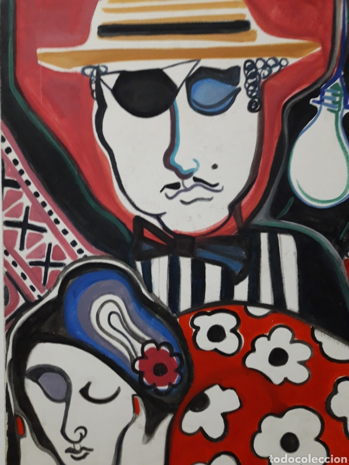 Arte: Autor: Desconocido. Óleo sobre lienzo. Firmado. - Foto 2 - 111174983