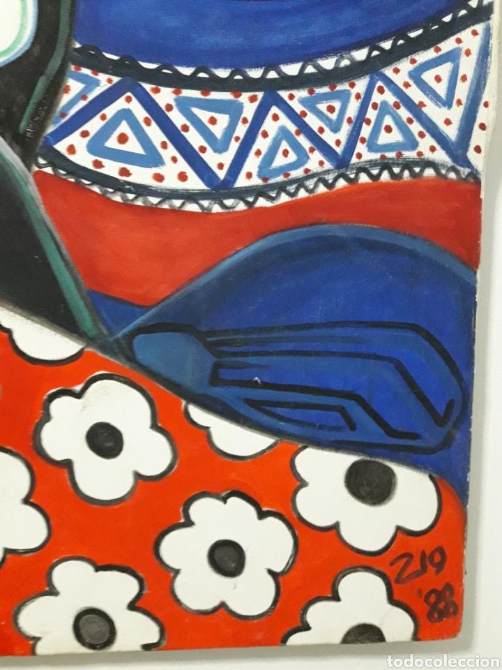 Arte: Autor: Desconocido. Óleo sobre lienzo. Firmado. - Foto 3 - 111174983