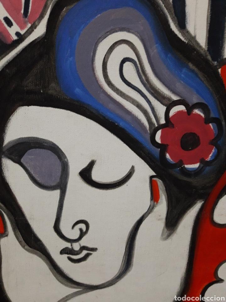 Arte: Autor: Desconocido. Óleo sobre lienzo. Firmado. - Foto 4 - 111174983