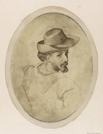 Arte: PINTURA,SIGLO XVIII,POSIBLE RETRATO MIGUEL DE CERVANTES DE JOVEN,AUTOR DE DON QUIJOTE DE LA MANCHA - Foto 7 - 97821879