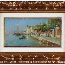 Arte: RAFAEL SENET Y PÉREZ - GRAN CANAL DE VENECIA, ÓLEO SOBRE LIENZO. Lote 111222515