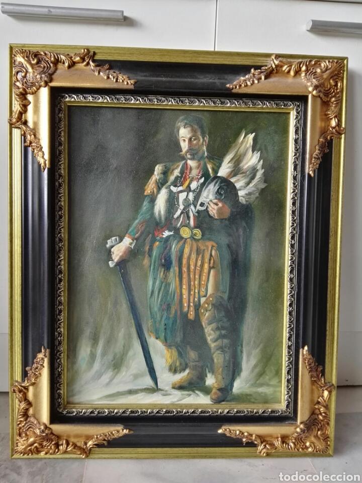 GRAN RETRATO AL OLEO SOBRE LIENZO SIN FIRMAR 54X44 (Arte - Pintura - Pintura al Óleo Antigua sin fecha definida)