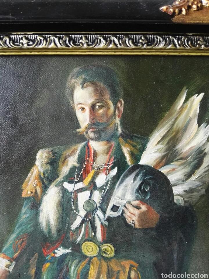 Arte: Gran retrato al oleo sobre lienzo sin firmar 54x44 - Foto 2 - 111242346