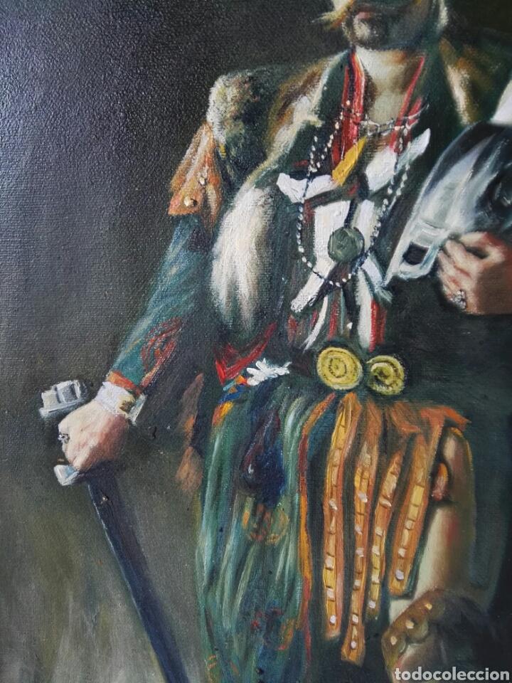 Arte: Gran retrato al oleo sobre lienzo sin firmar 54x44 - Foto 3 - 111242346