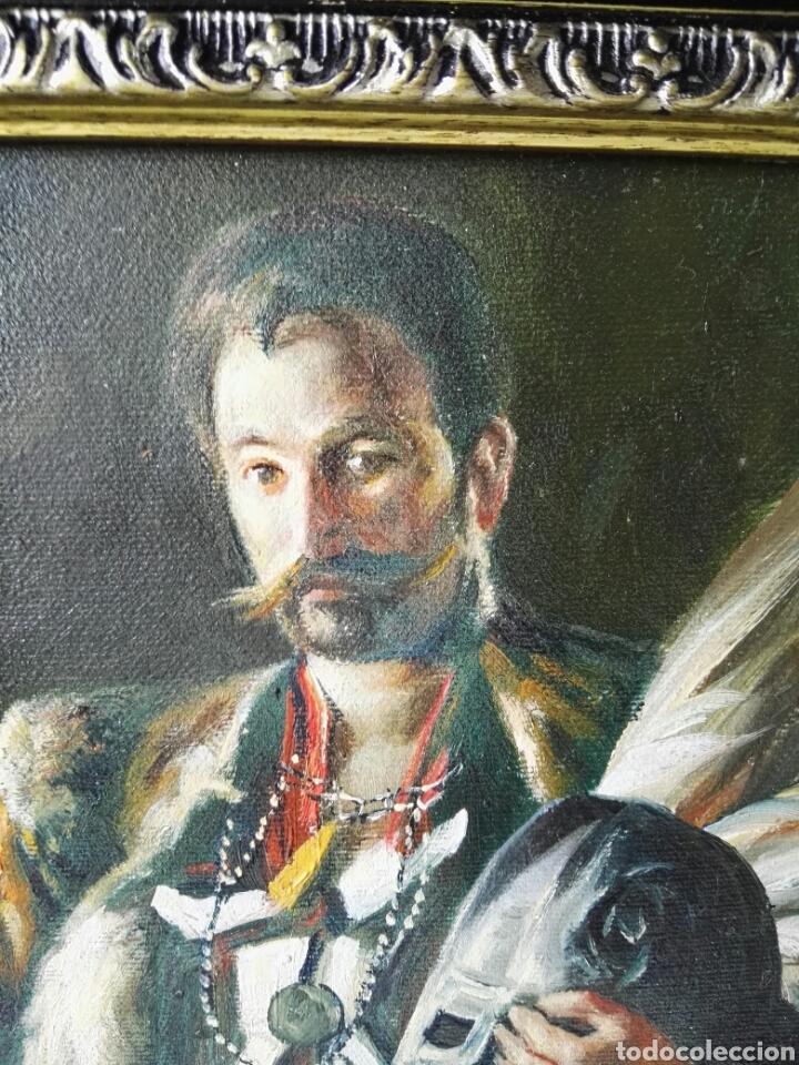 Arte: Gran retrato al oleo sobre lienzo sin firmar 54x44 - Foto 8 - 111242346