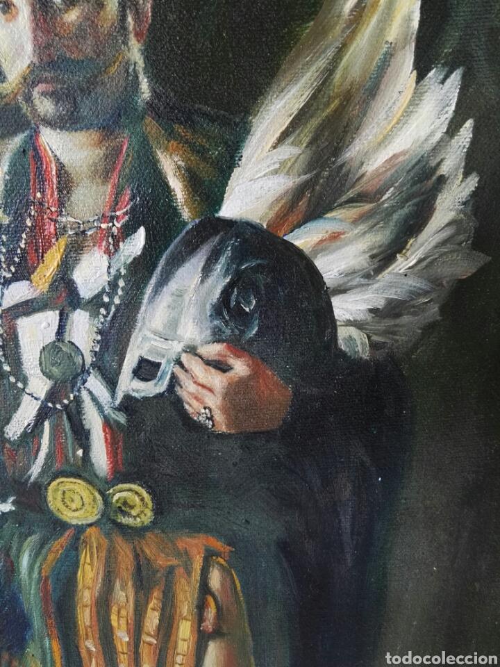 Arte: Gran retrato al oleo sobre lienzo sin firmar 54x44 - Foto 9 - 111242346
