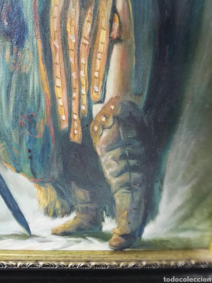 Arte: Gran retrato al oleo sobre lienzo sin firmar 54x44 - Foto 10 - 111242346