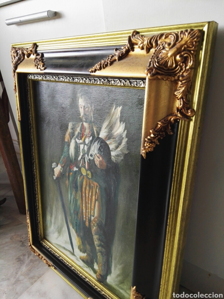 Arte: Gran retrato al oleo sobre lienzo sin firmar 54x44 - Foto 14 - 111242346