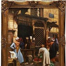 Arte: LUDWIG DEUTSCH -REPRODUCCIÓN- SHARIA EL-SANADKYEH, ÓLEO SOBRE LIENZO ENMARCADO. Lote 111295899