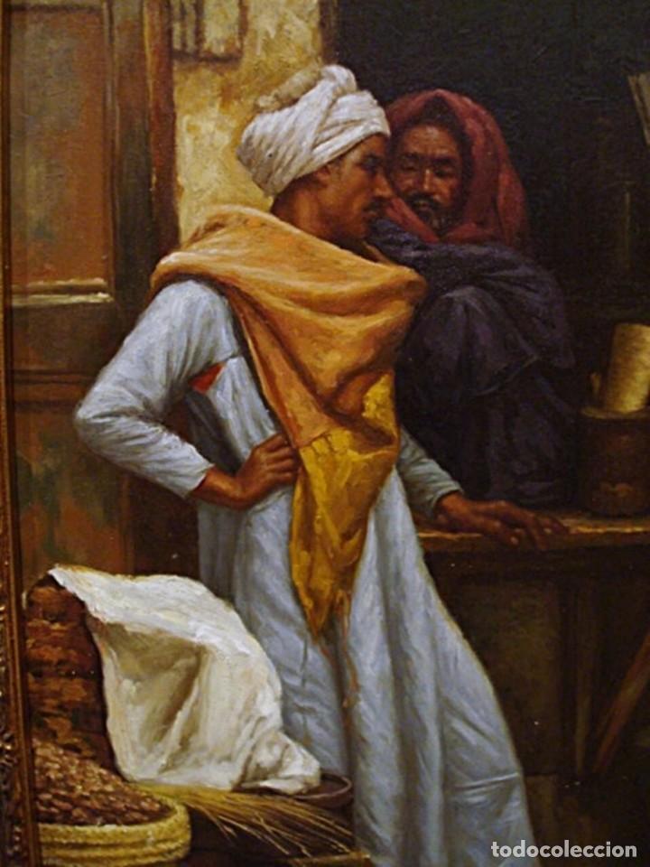 Arte: Ludwig Deutsch -Reproducción- Sharia El-Sanadkyeh, Óleo sobre lienzo enmarcado - Foto 3 - 111295899