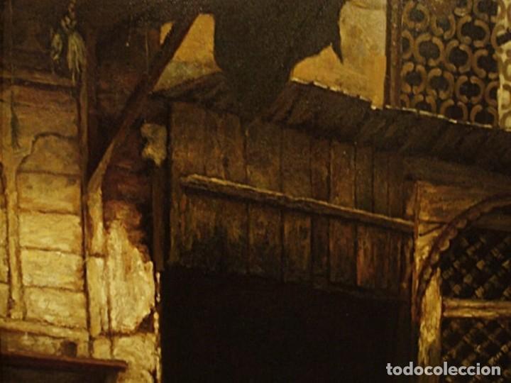 Arte: Ludwig Deutsch -Reproducción- Sharia El-Sanadkyeh, Óleo sobre lienzo enmarcado - Foto 7 - 111295899