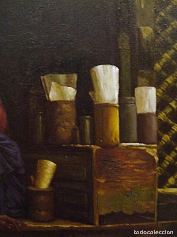 Arte: Ludwig Deutsch -Reproducción- Sharia El-Sanadkyeh, Óleo sobre lienzo enmarcado - Foto 8 - 111295899