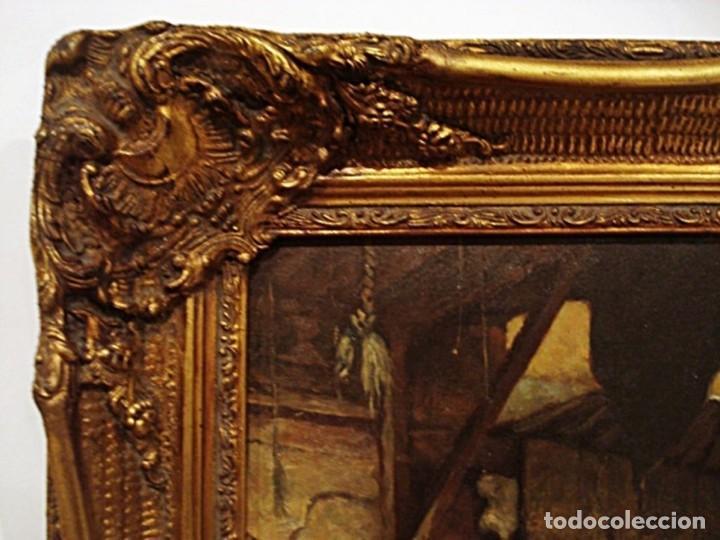 Arte: Ludwig Deutsch -Reproducción- Sharia El-Sanadkyeh, Óleo sobre lienzo enmarcado - Foto 9 - 111295899