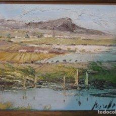 Arte: OLEO SOBRE TABLEX DE MIRALLES, PAISAJE DE MALLORCA MEDIDAS OLEO 28 X 22 CM MARCO 38'5 X 32'5 CM. Lote 111319467