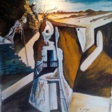 Arte: COPIA DE DALI,PINTURA SOBRE TELA.. Lote 111378631