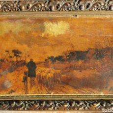 Arte: ANTON MAUVE (HOLANDA 1838-1888). LITOGRAFÍA RETOCADA POR EL ARTISTA.. Lote 111410296