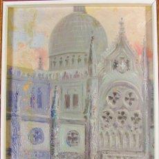 Arte: IGLESIA Y PERSONAJES. PARÍS. GASPAR MIRÓ LLEÓ (VILANOVA I LA GELTRU 1859- BARCELONA 1930). FIRMADO. . Lote 111489335