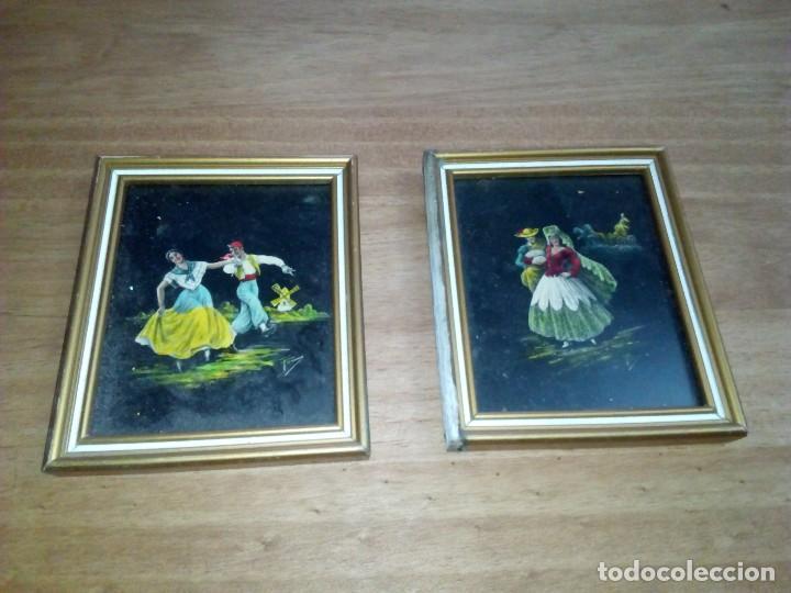 PAREJA DE PINTURA HECHO SOBRE CRISTAL (Arte - Pintura - Pintura al Óleo Antigua sin fecha definida)