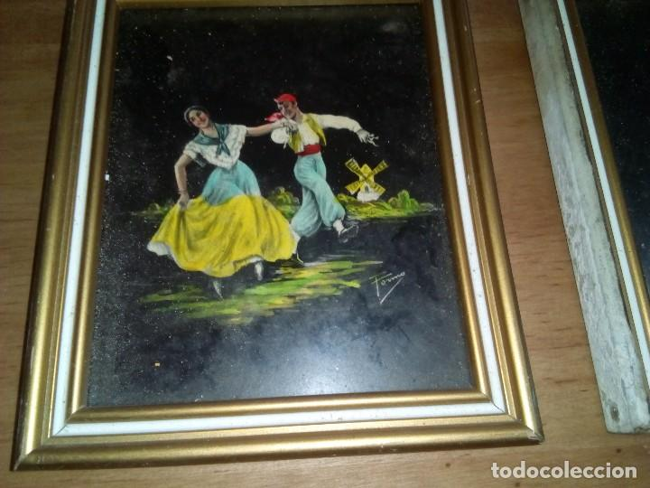 Arte: Pareja de pintura hecho sobre cristal - Foto 2 - 111534187