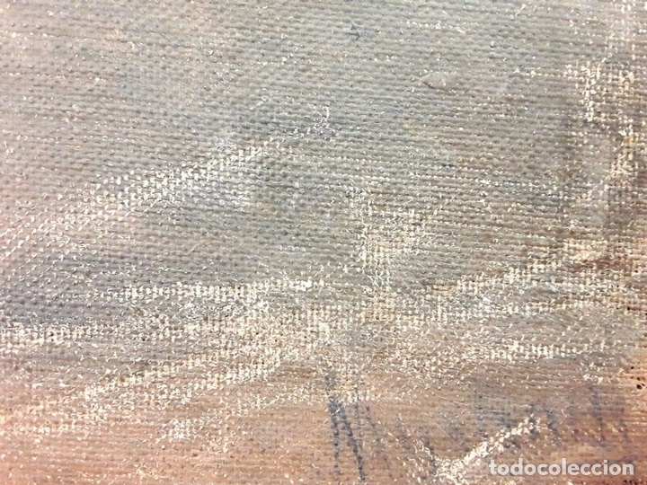 Arte: LA CAMARERA. ÓLEO. LIENZO SOBRE TABLA. FIRMA ILEGIBLE. ESPAÑA (?). SIGLO XIX-XX - Foto 5 - 81762728