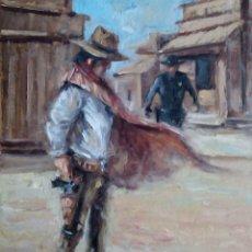 Arte: ILUSTRACIÓN AL ÓLEO. OBRA ORIGINAL COLECCIÓN SALVAJE OESTE. Lote 111598187