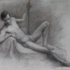 Arte: DESNUDO MASCULINO - RUSIA / EUROPA DEL ESTE - FIRMADA: O. VORONIN. Lote 111661623