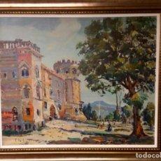 Arte: FRANCESC JULIÁ I VENTURA ,CUADRO DE ( CASTILLO DE CAN FEU ). Lote 111665035