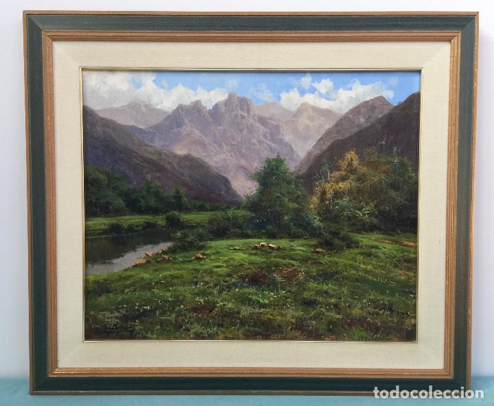 RICARDO SOLÉ GONZALEZ BONITO OLEO SOBRE LIENZO BIEN ENMARCADO (Arte - Pintura - Pintura al Óleo Contemporánea )