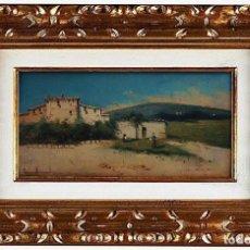 Arte: L.C.DIOMA - PAISAJE CON CASAS, ÓLEO SOBRE TABLA. Lote 111733383